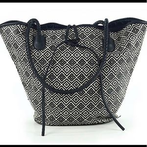 Neiman Marcus Woven Tote Never Used NWOT